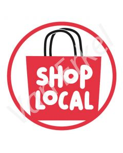 "Ronde sticker Ø50mm ""Shop Local"" op rol (1000st)"