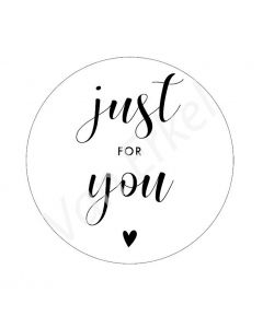"Sticker ""Just For You"""